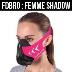 masque d'entraînement rose pour femme