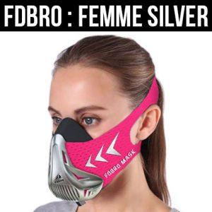 masque d'entraînement pour femme couleur métal - rose