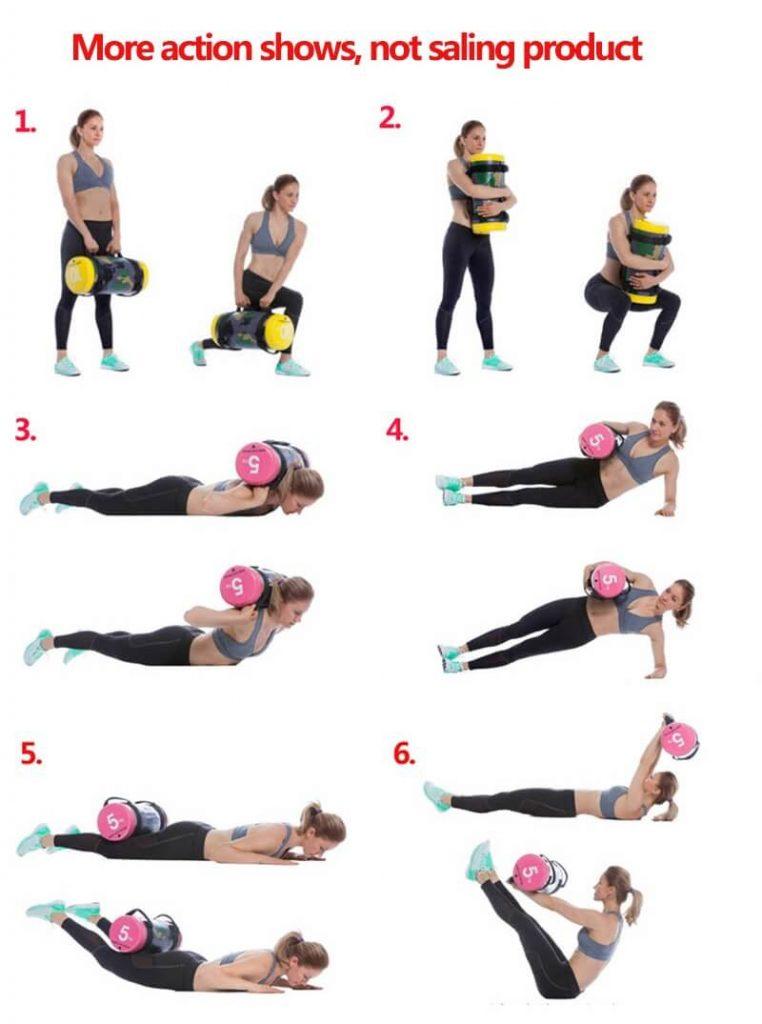 exemple exercice avec le sandbag - sac lesté